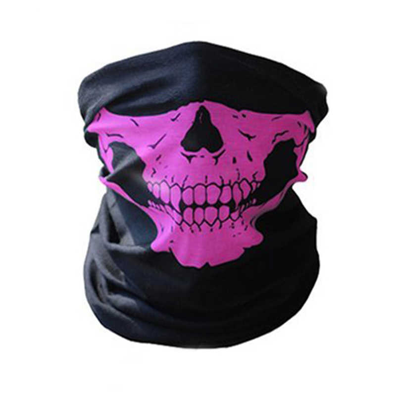 Cara completa protector facial para motocicleta invierno pasamontañas cara máscara fantasma táctico máscara 3D cráneo máscara facial cuello cálido a prueba de viento al aire libre