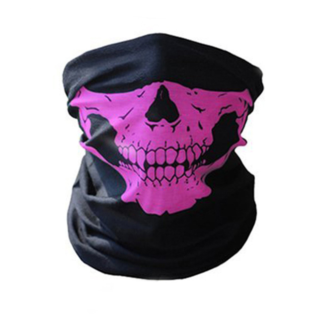Full Face Motorcycle Face Shield winter Balaclava Face Mask Ghost Tactical Mask 3D Skull Sport Mask Neck Warm Windproof Outdoor 1
