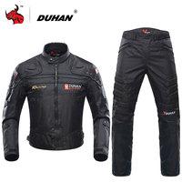 DUHAN Blouson Moto männer Motorrad Motocross Offroad Racing Jacke Körper Rüstung + Reiten Hosen Kleidung Set Schwarz blau Rot