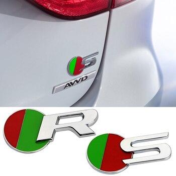цена на Car Styling S R R-SPORT Badge Emblem Trunk Side Waist Glue Sticker Decla For Jaguar D-TYPE C-TYPE E-TYPE XF XE XJ XF Accessories