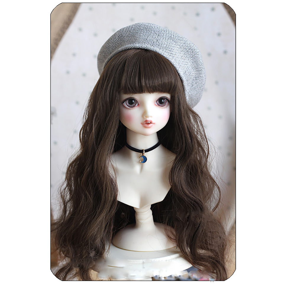 Allaosify bjd hair 1/3 1/4 BJD Doll High-Temperature Wig girls long curly Wigs SD BJD Wig 3 colors платье mango mango ma002ewxmx25