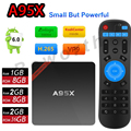 Nexbox s905x a95x android 6.0 tv box amlogic quad core 2 gb/16 gb 2G/8G 1G/8G Mini PC Inteligente Kodi 16.0 Wifi 4 K H.265 de Medios jugador