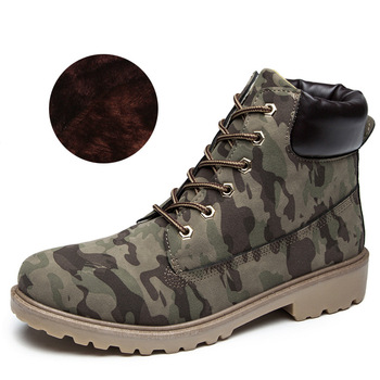 2020 Hot New Autumn Early Winter Shoes Women Flat Heel Boots Fashion Keep warm Women's Boots Brand Woman Ankle Botas Camouflage - army green Plush, 40