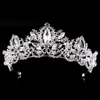 Rhinestone Tiaras Princess Crown Headband Women Headpiece Wedding Hair Accessories Bridal TiaraHandmade Bride Hair Jewelry