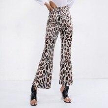 NiceMix high waist leopard print flare leggings 2019 autumn winter women fashion sexy bodycon trousers club pants new