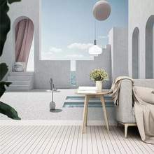 Custom 3d mural solid geometry ball building space TV background wall decoration painting wallpaper photo