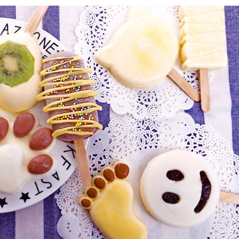 ₩100 unids helado nuevo palillo de madera del palillo del Popsicle ...