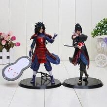 2pcs/set 18cm anime Naruto action figure Uchiha Madara Sasuke pvc