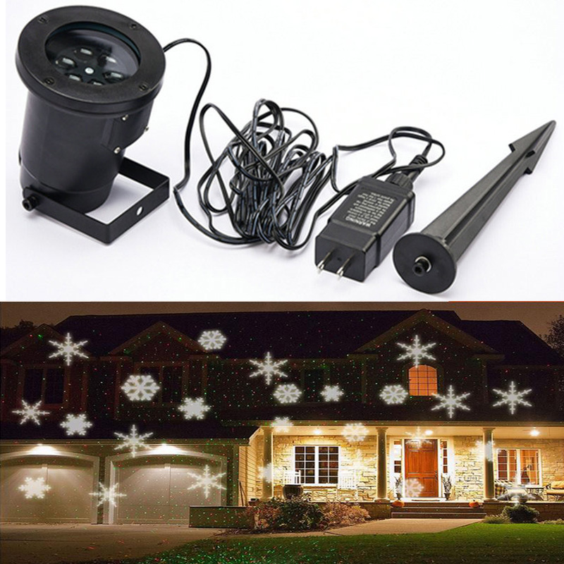 Waterproof Outdoor LED Snowflake Snow Laser Projector Lamp Christmas LED Stage Spotlight Light for Party Landscape Yard Garden newyear waterproof led snowflake laser projector lamps stage light christmas party garden home decoration outdoor