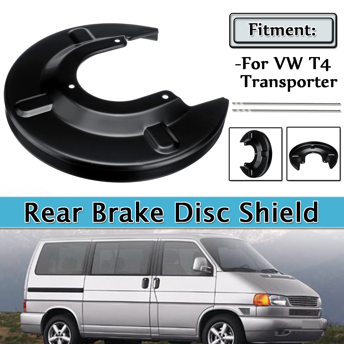 Universal Rear Brake Disc Shield Shell Fits For VW T4 Transporter 7D1615611 Plastic Brake System New