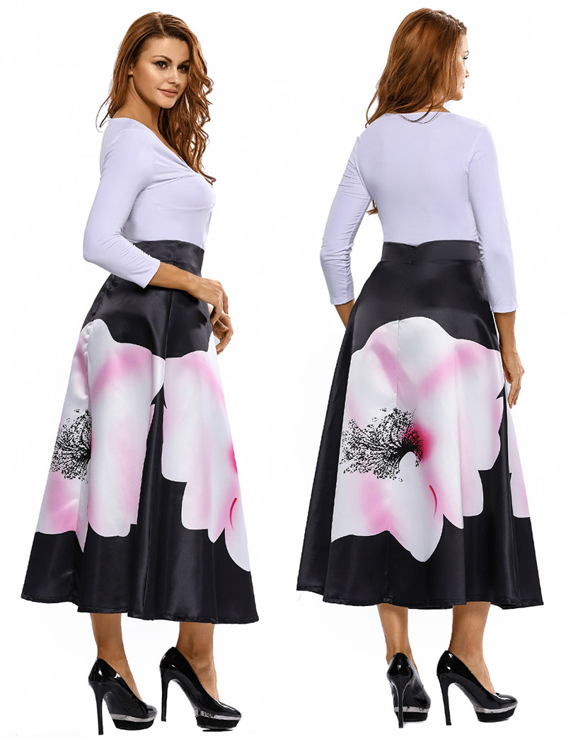 Big-Flower-Print-Black-High-Waist-Maxi-Skirt-LC65017-2-5