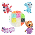 2016 New Design Kids Educational Toys Beads Making Crystal Creations Beads Works Intelligence Toy