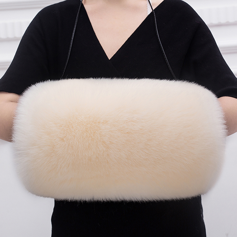 Big Size 55X40CM Home Warmers Faux Fox Fur Cuffs Warm Fur Cuff Arm Warmer Lady Bracelet Faux Fur Wristband Glove Winter Cuffs
