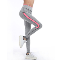 Girls Ladies Running Sport Pant Light Grey Pink Spring Gym Activewear Sexy Fitness Legging 1208