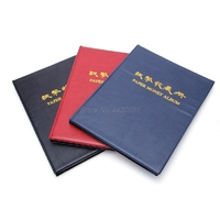 Coin Album New Faux Leather 60 Paper Money Holders Collection Album Book Collecting Storage Pockets Mini Hand Size Album Book