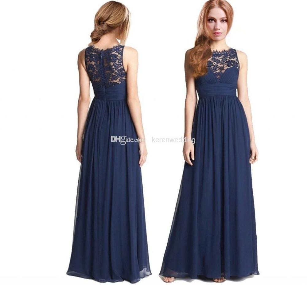 Wedding Navy Blue Lace Bridesmaid Dresses images of long navy bridesmaid dresses fashion trends and models collection pictures trends
