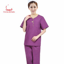 New hand washing clothes brush clothing womens split suit isolation short sleeve beauty