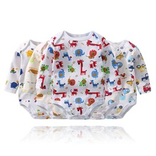 Brand New 100% Cotton Baby Girl Boy Bodysuit 2018 Polka Dot Boys Newborn Long Sleeve O-Neck Climbing Clothes 5 PCS