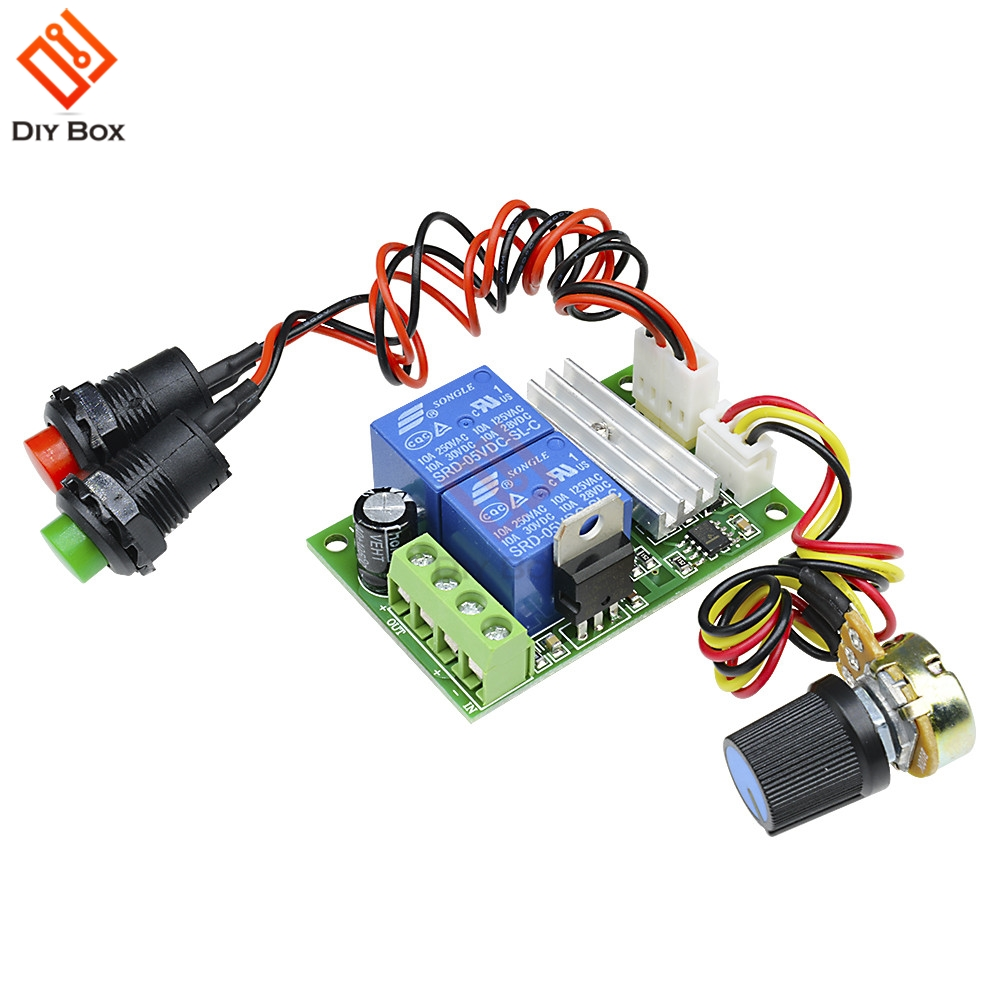 US $1 93 10% OFF|DC 6 24V 6V 9V 12V 24V 3A PWM DC Motor Speed Controller  Forward Backward Reversible Switch RC Control Regulator With Relay-in Motor