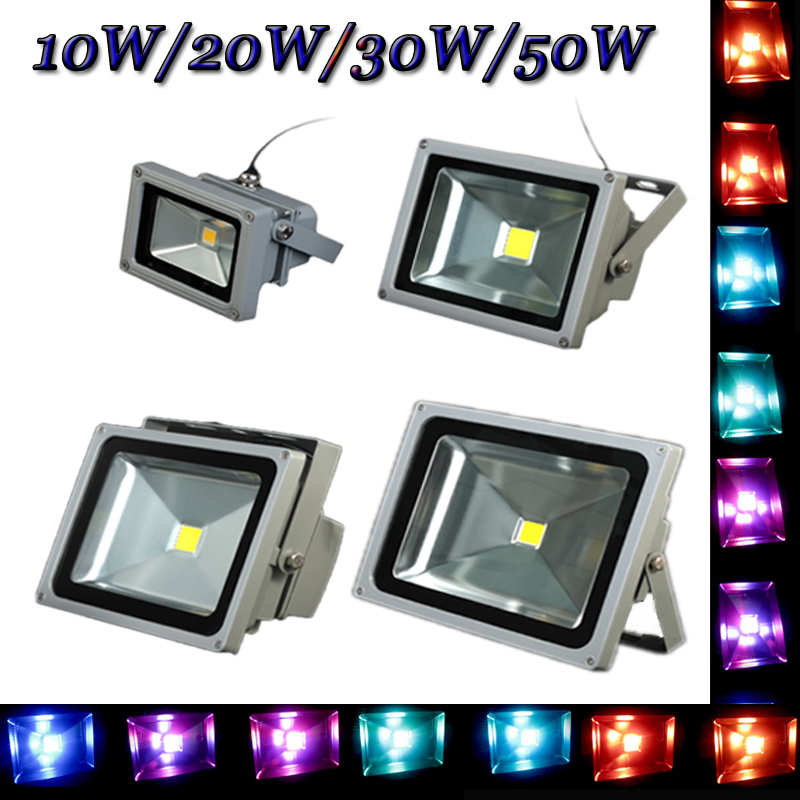 Ultrathin LED Flood Light 50w LED Floodlight IP65 Waterproof AC85V-265V Multicolor choice LED Spotlight outdoor lighting ultrathin led flood light 100w led floodlight ip65 waterproof ac85v 265v warm cold white led spotlight outdoor lighting