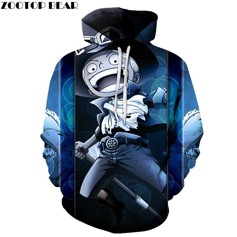 One Piece Anime Warrior 3D Print Brand Casual Hoody Sweatshirt Men Tracksuit Hoodie Pullover Streetwear Male Coat ZOOTOPBEAR New