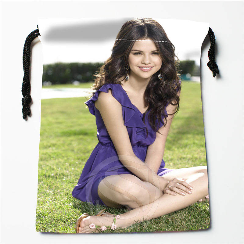 J&w113 New Selena Gomez &i Custom Printed  Receive Bag Compression Type Drawstring Bags Size 18X22cm W725&113xDW