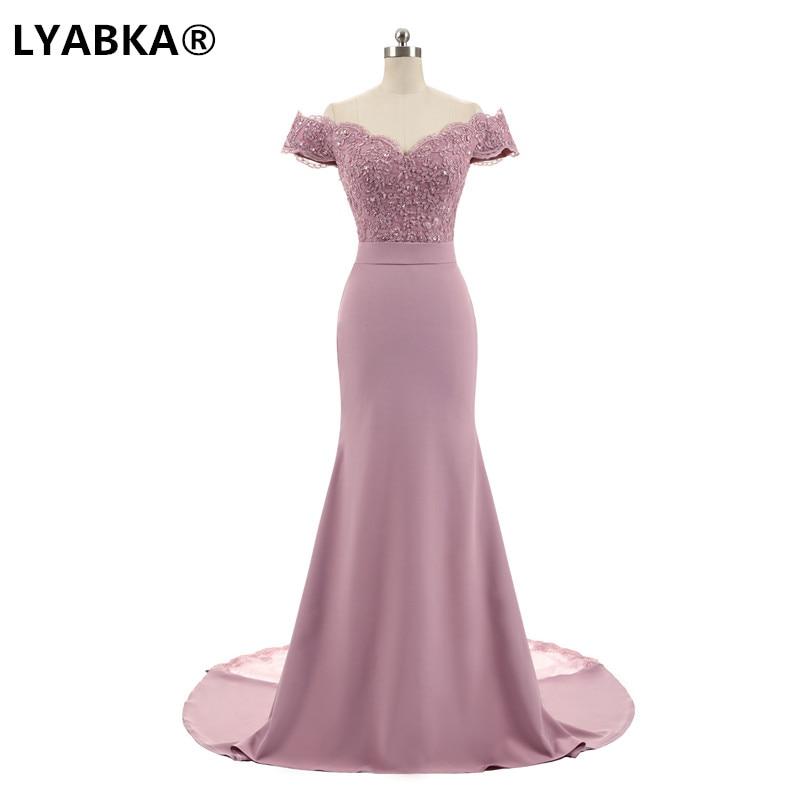 Evening Dress Abendkleider 2019 Design Sweetheart Mermaid Prom Dress Satin With Appliques Evening Dresses Long Robe De Soiree