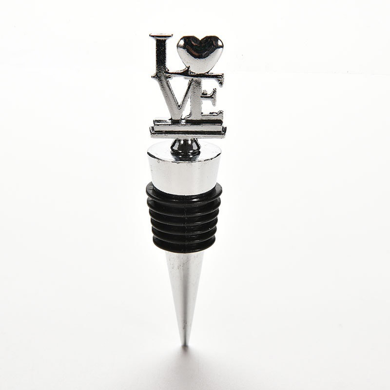 Barware LOVE Wine Bottle Stoppers Wedding Favors Bridal Shower Favors Wine Gift 2017ing ...