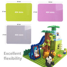Large Size Baseplate Big Base Plate 404 Dots Exlarge Brick Solid Plate Toys Compatible Legoingly Duploe Toys For Kids Christmas(China)
