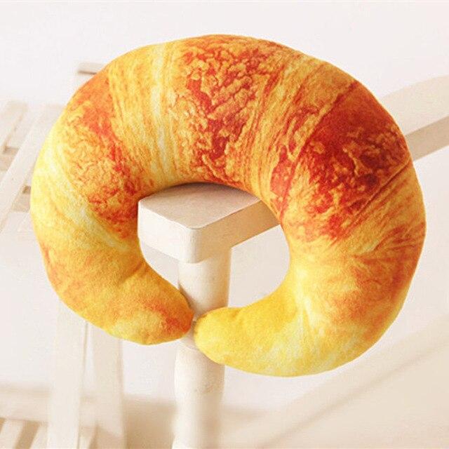 31 26 cm Simulação Croissant Forma U Tipo 3D Pescoço Almofadas Nap Jogue  Travesseiro Crianças 48923c94502c5