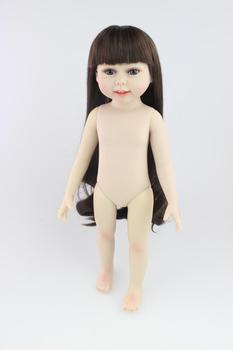 18 Inch Naked Doll Girl Toys for Children Lifelike Baby Princess Doll Kids Gifts Shower Dolls Educational Toys