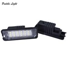 1 Set Error Free LED number License Plate Lights Fit For VW Amarok Eos Golf New Beetle Polo Passat Lupo Phaeton Scirocco стоимость