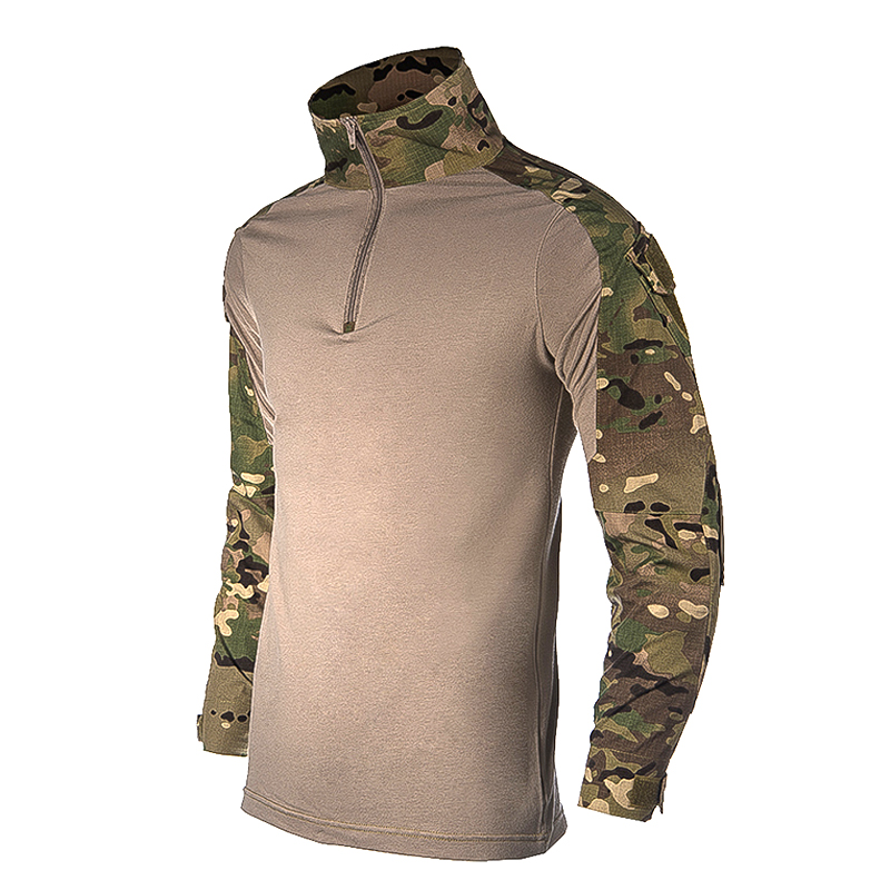 Military Camouflage US Army Unifrom Combat Shirt with Elbow Pads  Airsoft Tactical Suit Paintball Militar Gear Hunting Clothing military mich 2002 glass fiber helmet tactical accessory army combat head protector riding hunting airsoft paintball field gear