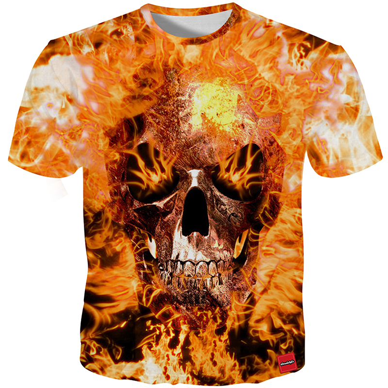 HTB1JwmnX1SSBuNjy0Flq6zBpVXah - Men's New Fashion 2018 - Quality 3D Skull Print Design Stylish Casual T-Shirt