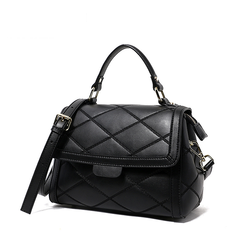 купить Real Genuine Leather Bags Women Small Diamond Lattice Shoulder Bag Women Luxury Brand Design Black Silvery Exquisite Cover Bags недорого