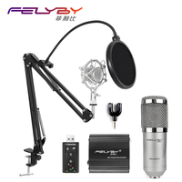 2017 New BM 800 Wired Microphone Recording Kit KTV Karaoke And Vibration Installation Compatible With Stand