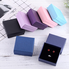 Black Jewelry Box 9x9cm Necklace Earrings Bracelets Boxes Paper Gift Packaging with Black Sponge Can Personalized logo 12pcs