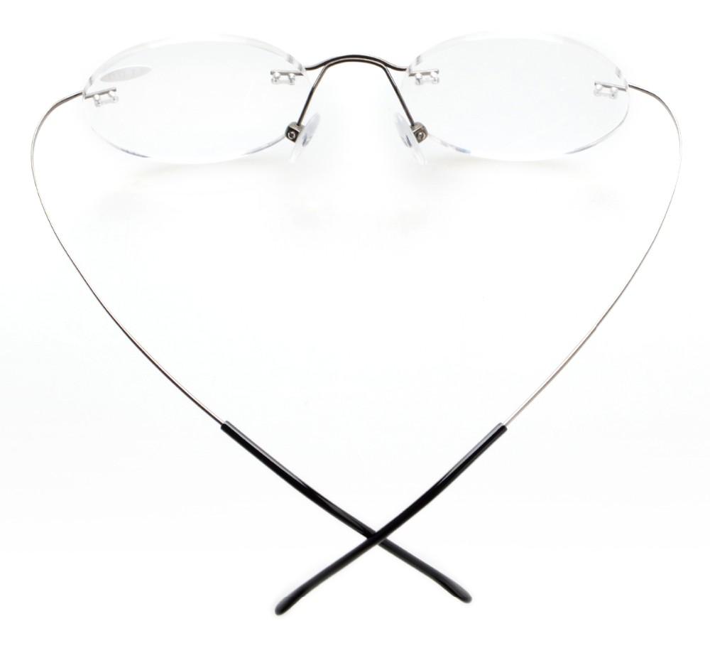 cca12efda03 R15026 Eyekepper Titanium Rimless Round Reading Glasses Circle ...