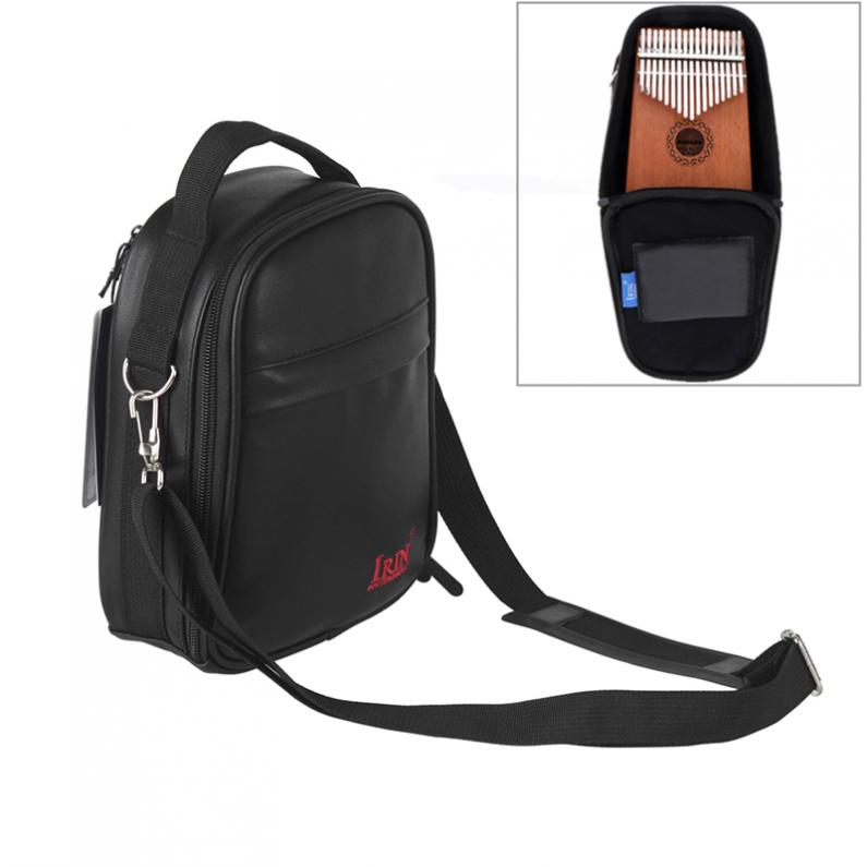 17 / 15 / 10 Key Universal Kalimba Pu Leather Storage Bag Thumb Piano Mbira Soft Case Cotton Thickening Shoulder Portable Bag In Pain