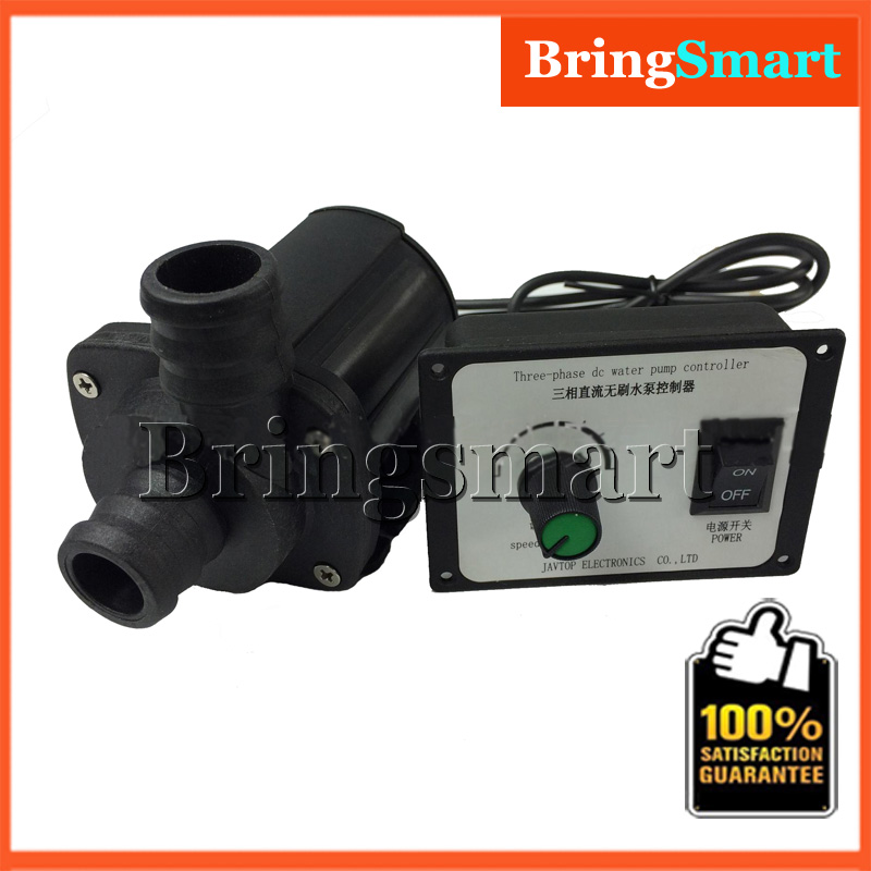 JT-1000A3 3000L/H 7M High Lift Mini Brushless Booster Pump 12V DC Water Pump 24V Submersible Fountain Pump + Speed Controller dc water pump 12v dc40a 1245 for garden fountain music fountain swimming pool submersible 620l h 4m maintenance free
