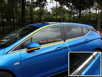 молдинг наружной двери   16 шт. стальная наружная Боковая дверь полное окно Верхняя и нижняя молдинги для Opel Astra K 2015-2017 хэтчбек
