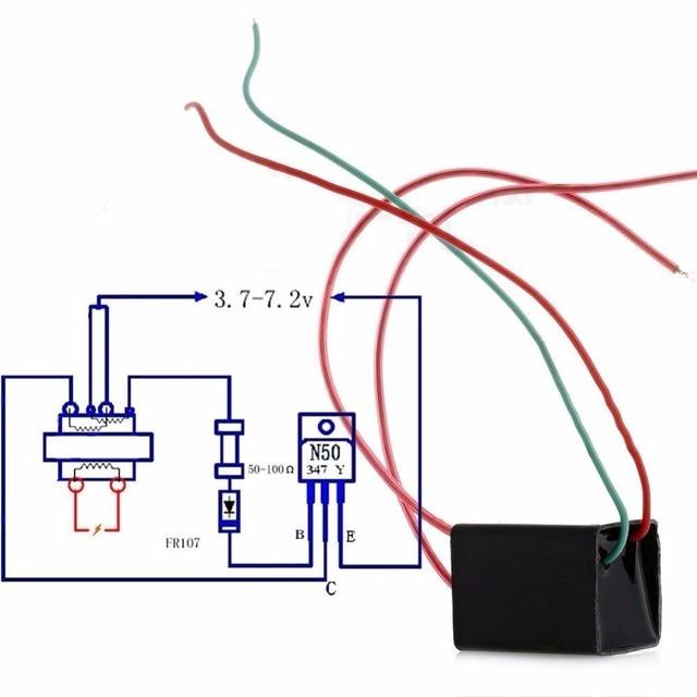 20KV 20000V High Voltage Pressure Generator Igniter Step Up Boost Module Coil Transformer Pulse Ignition DC 3.6-6V 3
