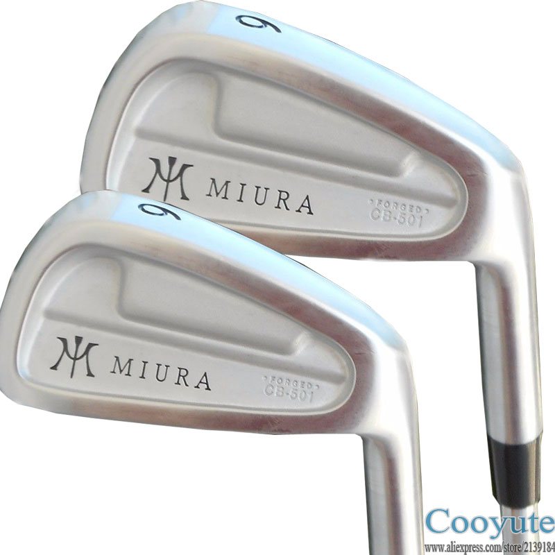 New mens Cooyute Golf irons set MIURA CB-501 FORGED Golf Clubs set 4-9P Clubs Project X 5.5 Flex Steel Golf shaft Free shipping new taylormade 2014 tour preferred cb 6 piece iron set steel