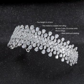 2019 New Crystal Cubic Zirconia Bridal Wedding Soft Headband Hairband Tiara Hair Jewelry Accessories Hairpieces CHA10002