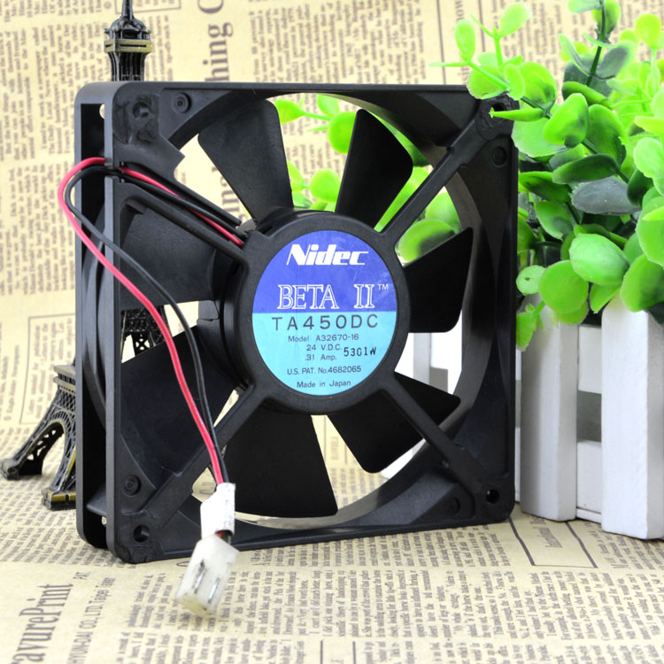 все цены на Free Shipping For Nidec A32670-16 DC 24V 0.31A 2-wire 2-pin connector 100mm 120x120x25mm Server Square Cooling Fan онлайн