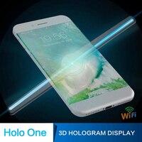 Verbesserte 50 cm/1.64ft Wifi 3D Holographische Projektor Display Fan Tragbare LED Einzigartige Hologramm Player Projektor-in Werbung-Leuchten aus Licht & Beleuchtung bei