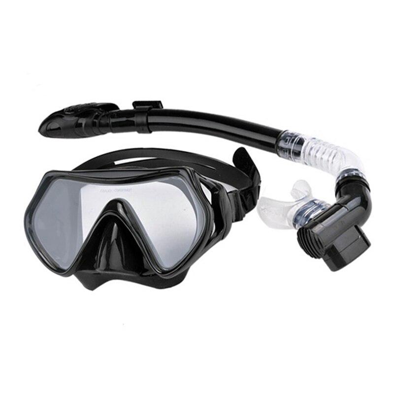 Professional Men Women Anti-Fog Goggles Glasses Set Scuba Diving Mask Snorkel Silicone Swimming Fishing Pool Equipment for Adult