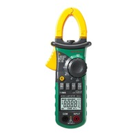 Mastech MS2108 Digital AC/DC Clamp Meter Multimeter LCD Display True RMS Auto/Manual Range Current Voltage Frequency Meter