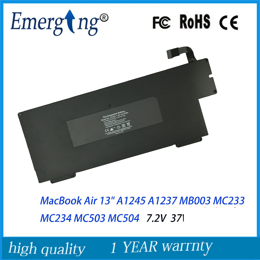 7.2V 37Wh New Laptop Battery for Apple MacBook Air 13 A1245 A1237 MB003 MC233 MC234 MC503 MC504