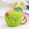 Novidade Gifts Car Keychains Luxury Enamel Apple Keychains Purse Bag Charms Marvel Keychain